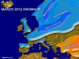 Marzo freddo su gran parte dell'europa