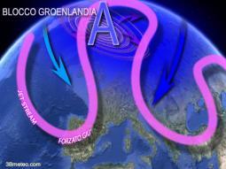 Blocco groenlandese facilita il temo instabile e freddo