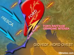 forti temporali al Nord Ovest