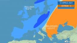 Europa divisa tra estate e inverno
