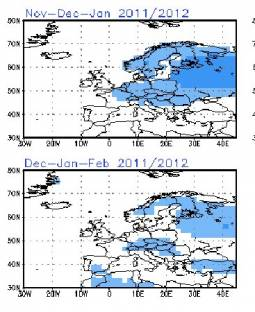 Anomalie termiche al suolo secondo la NOAA