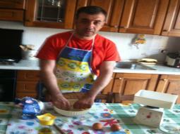 Inizio a preparare gli ingredienti...preparazione e cottura richiedono tempi lunghi.