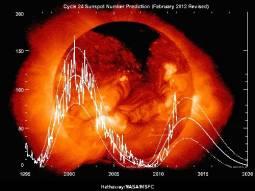 Proiezioni attività solare del ciclo 24: picco tra fine 2012 e inizio 2013