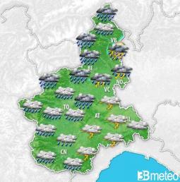 Forte peggioramento in arrivo da giovedì sera sul Piemonte