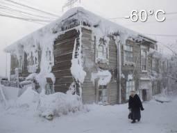 METEO : GELO ESTREMO in Yakutia (Russia), TEMPERATURE scese fino a -60°C