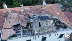 TROMBA D ARIA devasta ROSIGNANO MARITTIMO (LI). Danni pesantissimi! VIDEO dal drone