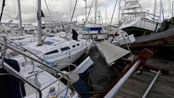 Il porto turistico di Southport, nella Carolina del Nord, dopo il passaggio di Isaias (Fonte immagine: CNN)