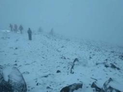 L aria fredda dilaga in Europa. Neve sui monti della Scozia