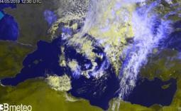 Immagine satellite ore 14