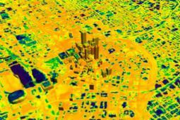 Isola di calore urbana nell'infrarosso
