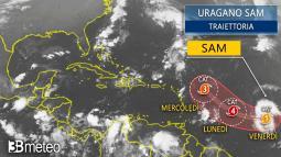 OCEANO ATLANTICO: SAM diventa URAGANO e si dirige minaccioso verso i CARAIBI