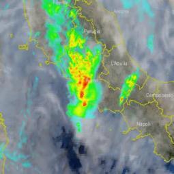 La situazione in atto a Roma: forti piogge e temporali