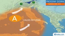 Da giovedì torna l anticiclone sub tropicale