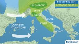 Focus MALTEMPO: Ecco le zone dove pioverà di più