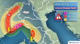 Meteo Italia: focus maltempo Nordovest