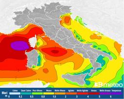 Meteo Italia: la situazione dei mari attesa domenica