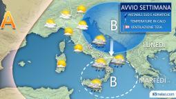 Meteo Italia: le previsioni meteo per lunedì