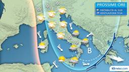 Meteo Italia, situazione attesa nelle prossime ore