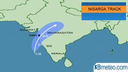CRONACA MONDO. CICLONE NISARGA verso l India, preoccupazione per MUMBAI
