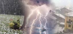 CRONACA METEO: transita il fronte freddo, rovesci, temporali