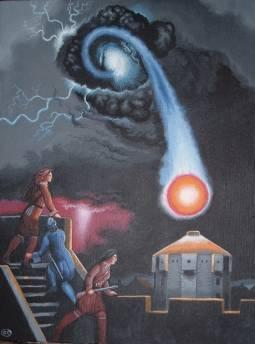 Rappresentazione di un fulmine globulare.