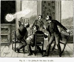 Simpatica rappresentazione di un Fulmine Globulare risalente al XX secolo