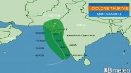 OCEANO INDIANO - Si sta sviluppando il CICLONE TAUKTAE, è ALLERTA meteo tra India e Pakistan