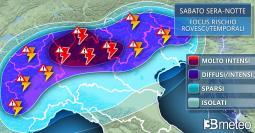Meteo NORD: rischio TEMPORALI di ECCEZIONALE VIOLENZA, raffiche di vento e grandine
