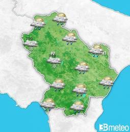 Tornano pioggia e neve in Basilicata