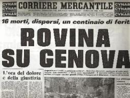 Un titolo di giornale dell'epoca