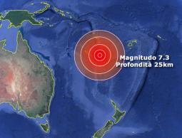 Violento terremoto nel Pacifico di magnitudo 7.3, diramato allerta Tsunami