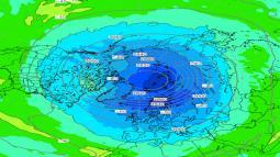 VORTICE POLARE stratosferico, nuova intensificazione in arrivo. Conseguenze sul nostro Paese