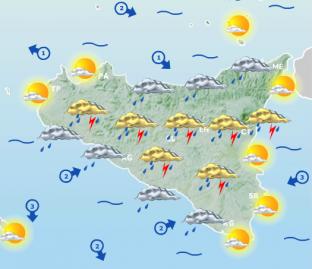METEO SICILIA: temporali pomeridiani, in arrivo la replica! Attese altre grandinate