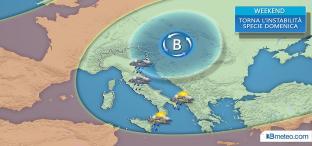 Domenica: torna la pioggia su diverse regioni