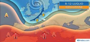 Nei prossimi giorni CALDO ANTICICLONE ingloba tutta l Italia, picchi over 35°C