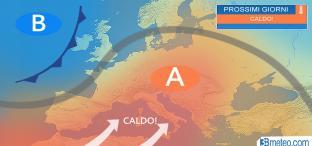 ONDATA DI CALDO in settimana, fino a 34°C