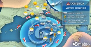 METEO SICILIA -- sarà un weekend di MALTEMPO. Pioggia e vento, anche a PALERMO, MESSINA e CATANIA