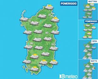 METEO SARDEGNA: torna la pioggia nel corso di sabato,