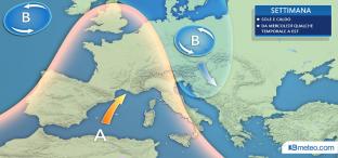 SOLE e CALDO specie su Nord e Tirreniche