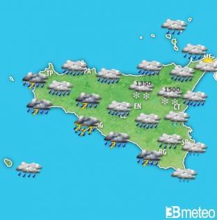 Meteo Sicilia: FORTE MALTEMPO, rischio grandine e nubifragi anche venerdì