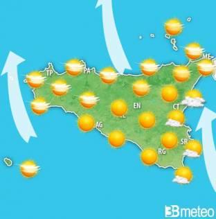 Meteo Sicilia. Il tempo previsto fino al 1° Maggio