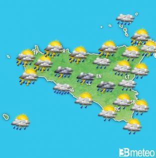 METEO SICILIA: maltempo con piogge e temporali, previsioni prossime ore