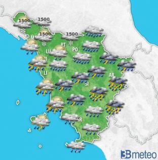 ALLERTA METEO TOSCANA: maltempo in arrivo con piogge e temporali anche forti