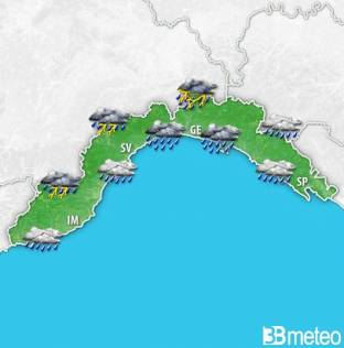 Meteo Liguria -- AVVISO FORTE MALTEMPO in arrivo con rischio NUBIFRAGI e CRITICITA , anche a GENOVA