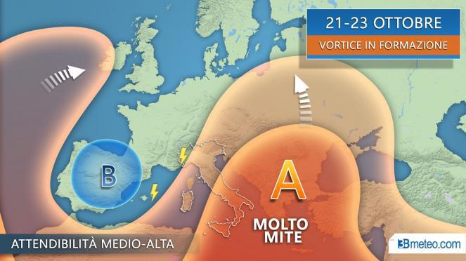 21-23 ottobre ultimi temporali al Nordovest prima di una breve pausa