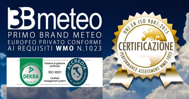 3Bmeteo: primo brand meteo privato certificato