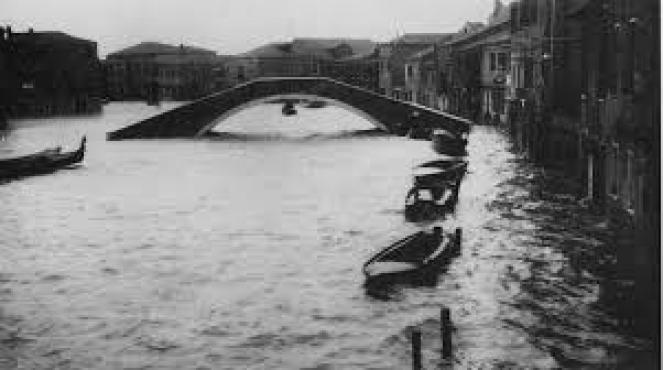 4 novembre 1966 eccezionale acqua alta a Venezia