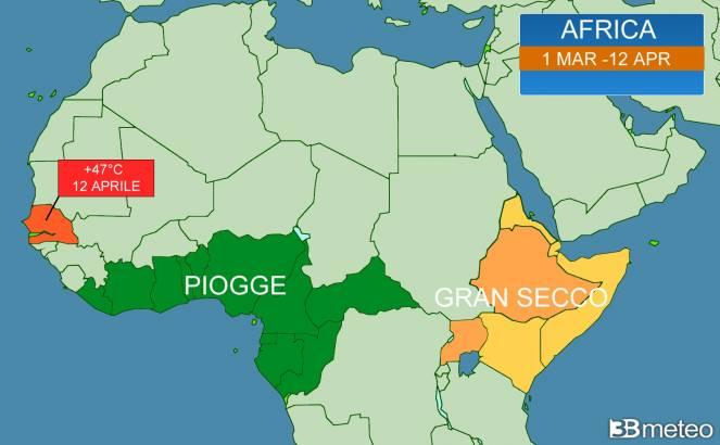 47°C in Senegal, torna la pioggia sul Corno d'Africa