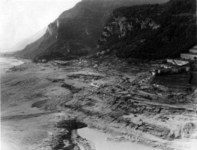 Longarone, a valle: completamente spazzata via