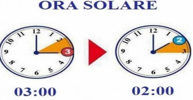 A fine ottobre torna l'ora solare